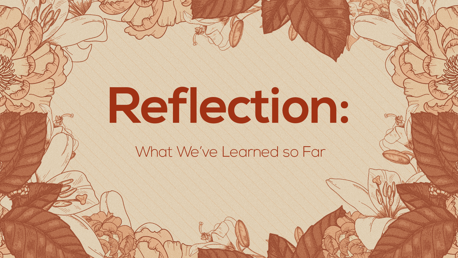 Reflection: What We've Learned So Far